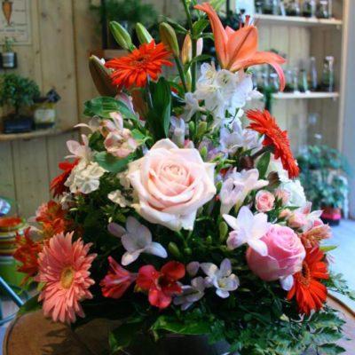 composition floral funéraille Un brin de folie
