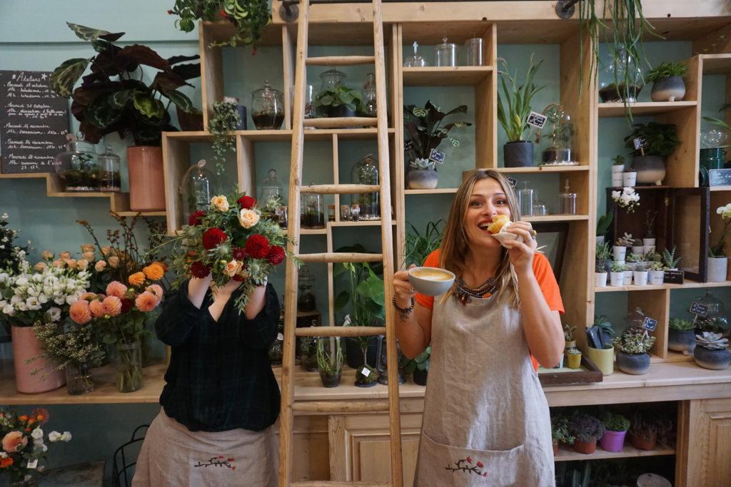 fleuriste café coffee shop salon de thé terrariums fleurs goûter