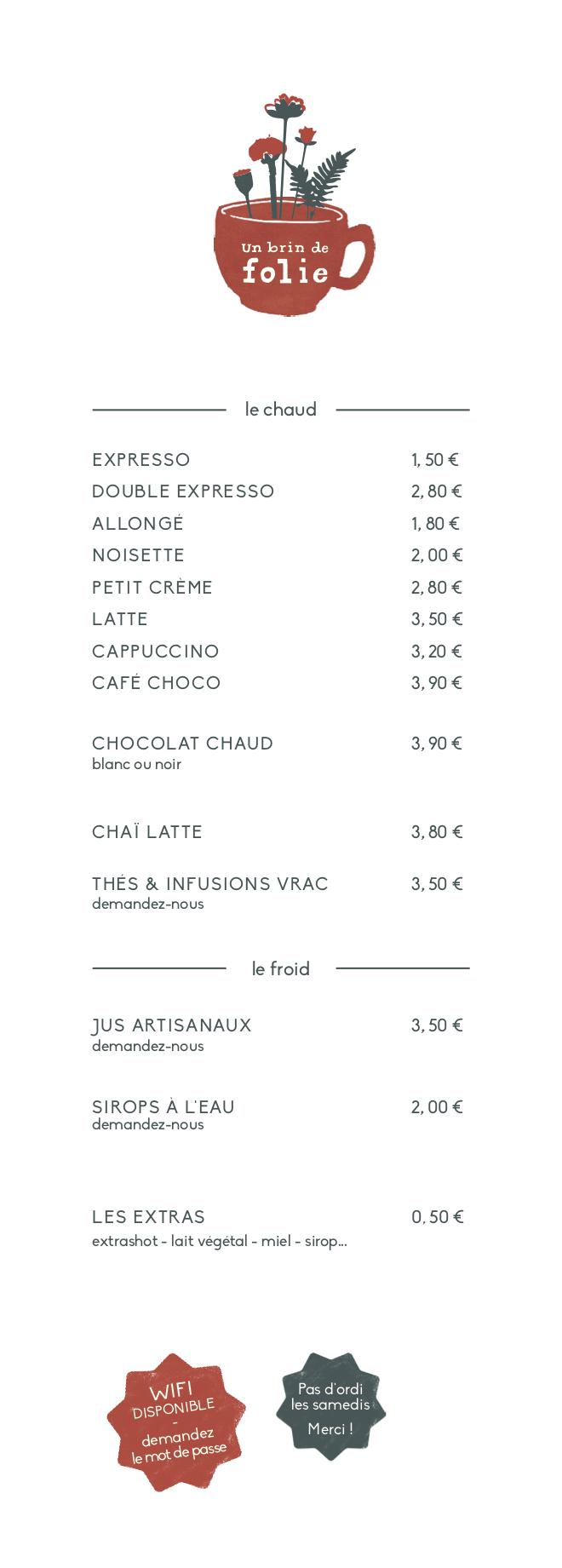 menu_UBDF carte café