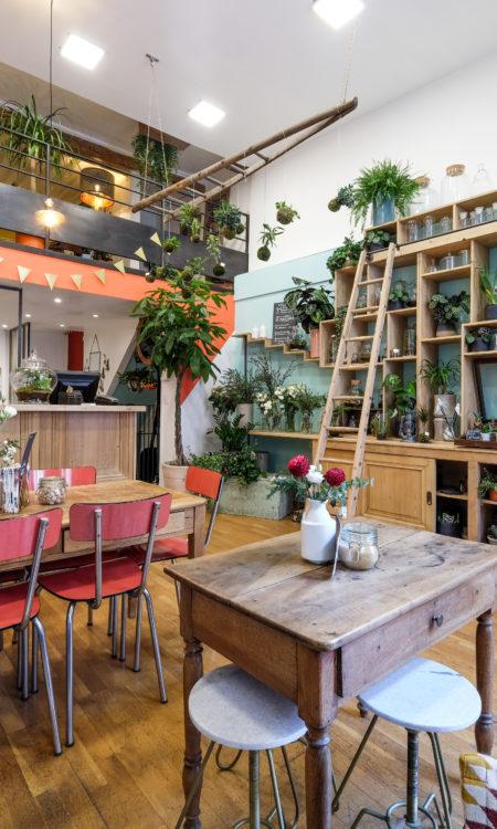 boutique fleuriste café lyon1 Un brin de folie café botanique